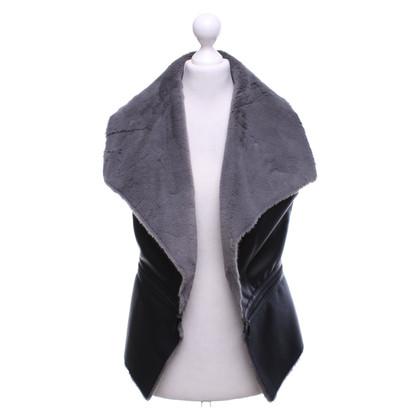Laurèl Gilet in grigio / nero