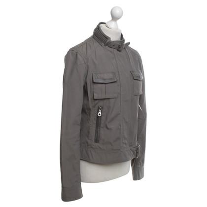 René Lezard Biker jacket in grey