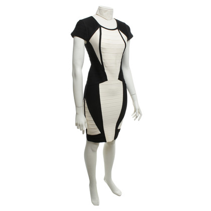 Hervé Léger Dress in black / cream