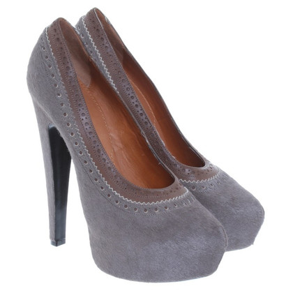 Givenchy High pumps in Taupe with rabbit fur trim