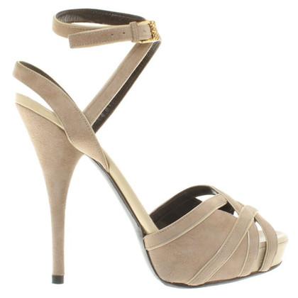 Roberto Cavalli Platform sandals in beige