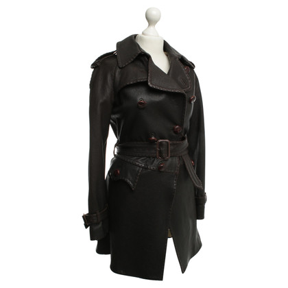 Jean Paul Gaultier Leather jacket in dark brown