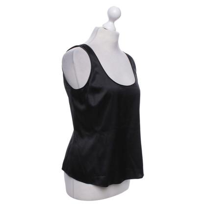 Armani Collezioni Silk top in black
