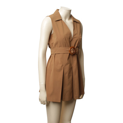 Prada two-piece in ochre