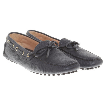 Car Shoe Loafer in nero