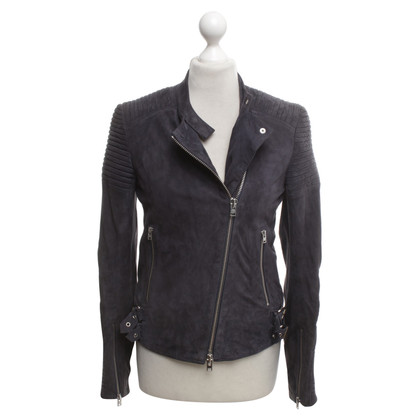Closed Leather jacket in blue