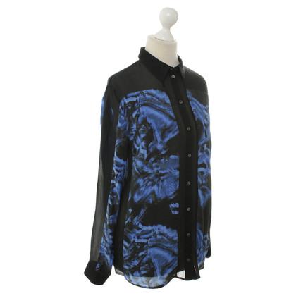 Lala Berlin Horses-print silk blouse