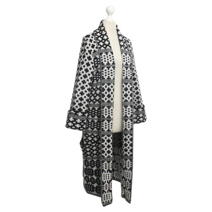 Odeeh Long cardigan with check pattern