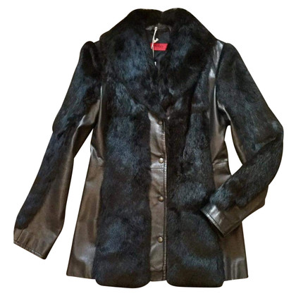 Hugo Boss Leather jacket with fur