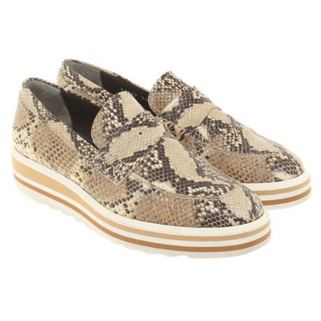 Andere Marke Pertini - Slipper mit Schlangenmuster Bunt / Muster