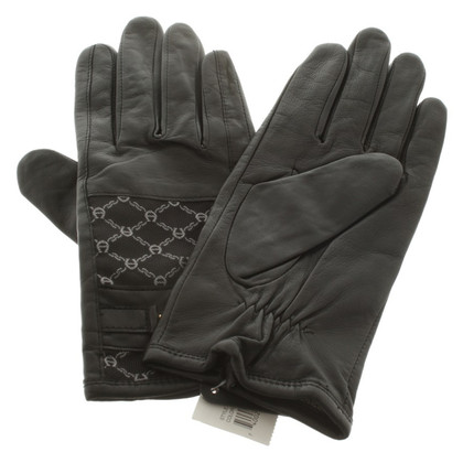 Aigner Gloves with Logo Pattern