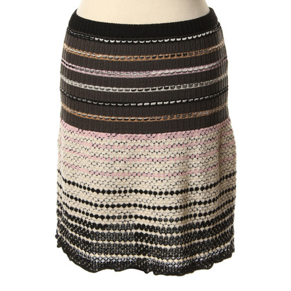 Missoni skirt with typical brand pattern