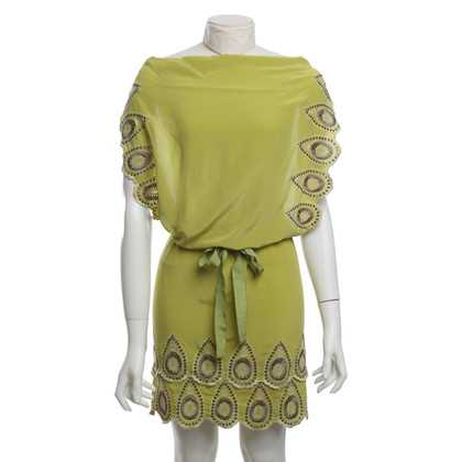BCBG Max Azria Silk dress with embroidery