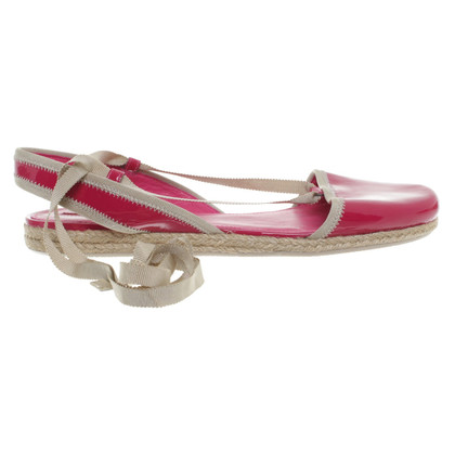 Prada Lace-up sandals in pink