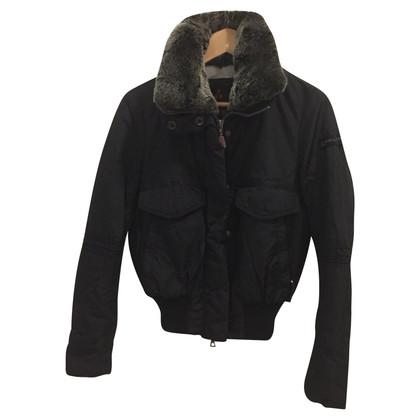 Peuterey bomber corto con pelliccia