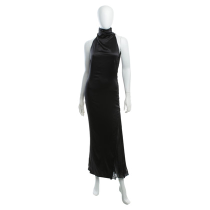 Emanuel Ungaro Satin Dress with Godet