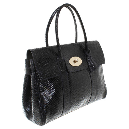 "Mulberry ""Bayswater Bag"" made of snakeskin"