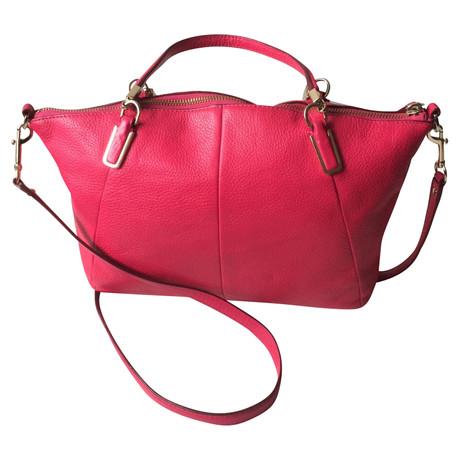 Niedrig Preis Versandkosten Für Verkauf Manchester Coach Handtasche in Pink Rosa / Pink Kaufen Dtfx8x