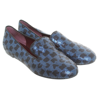 Marc by Marc Jacobs Loafers in blue with sequins