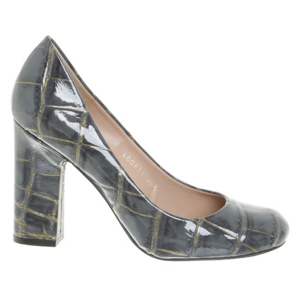 Pura Lopez pumps met reptiel-embossment