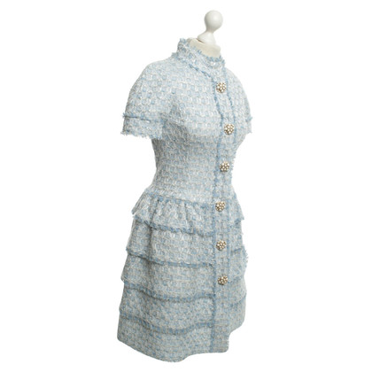Oscar de la Renta Shirt Dress in blu / bianco