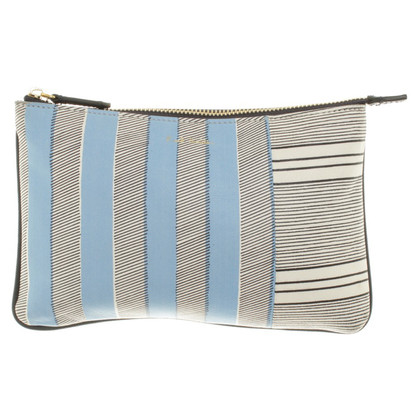Paul Smith clutch with striped pattern