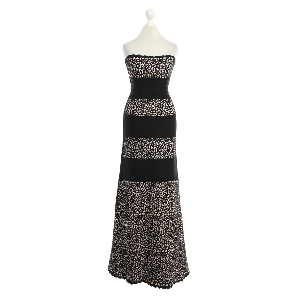 Hervé Léger Evening dress with jacquard pattern