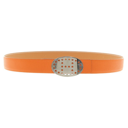 Hermès Orange leather belt