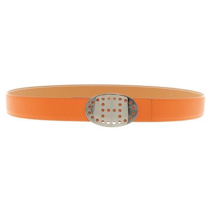 Hermès Orangefarbener Leder-Gürtel