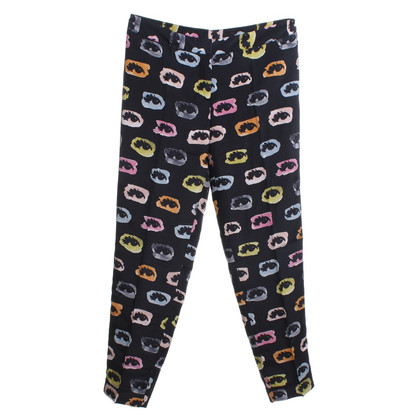 Moschino trousers with eye-print