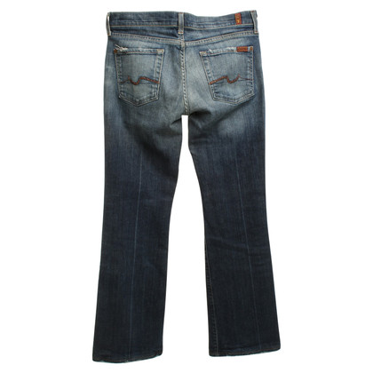 7 For All Mankind Ausgestellte Jeans in Mittelblau