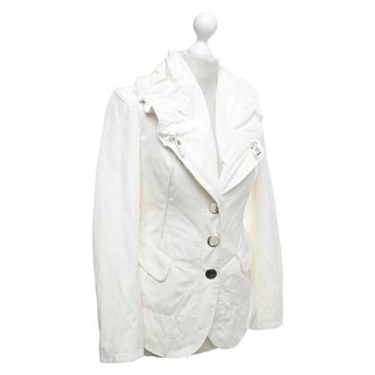 Altre marche Blazer alto uso in bianco crema