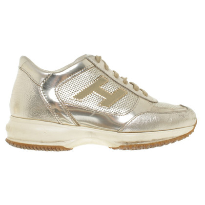 Hogan Gold colored sneakers