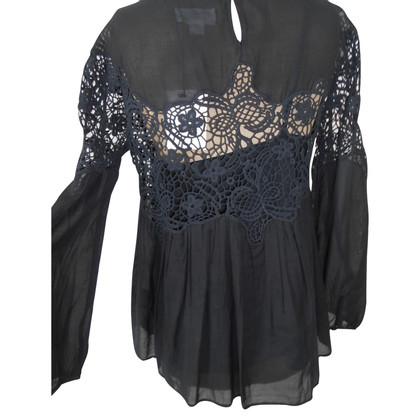Velvet Blouse in zwart