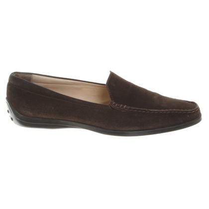 Tod's Loafer aus Veloursleder