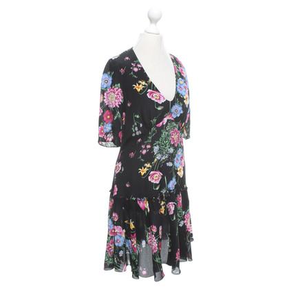 Tara Jarmon abito di seta in nero / multicolore