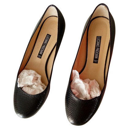 Luciano Padovan Ballerinas made of python leather