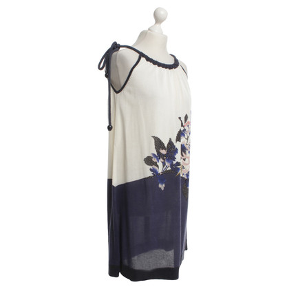 Kenzo Dress with flower pattern in cream