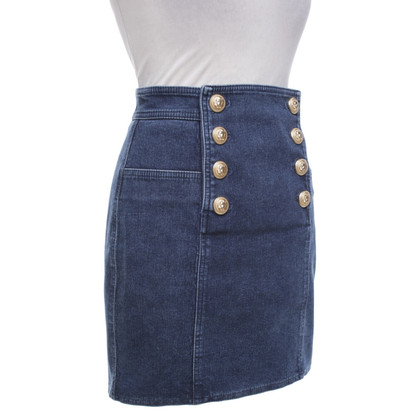 Balmain Short denim skirt