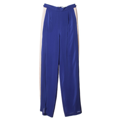 MSGM Silk pants in blue