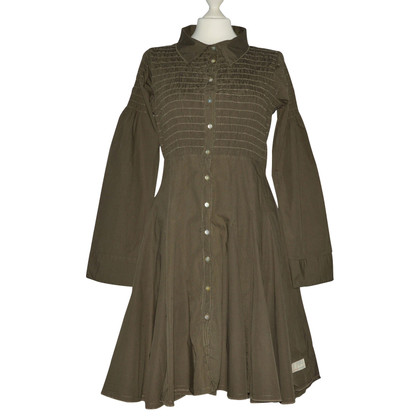 Odd Molly Asymmetric Khaki Cotton Dress