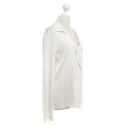 Elie Tahari Zijden blouse in crème