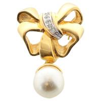 Lanvin Loop brooch with artificial pearl