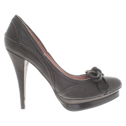 Pura Lopez Leather platform pumps
