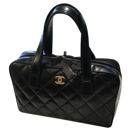 Chanel Lederen handtas in zwart