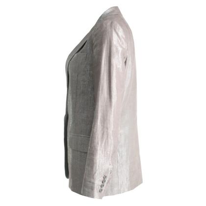 Maje Silver Lurex Blazer