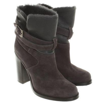 Fabiana Filippi Suede Ankle Boots with heel