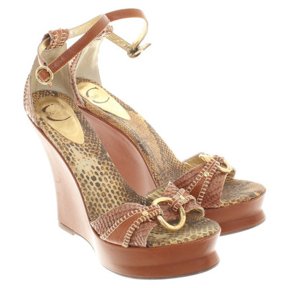 Just Cavalli Wedges in a reptile look