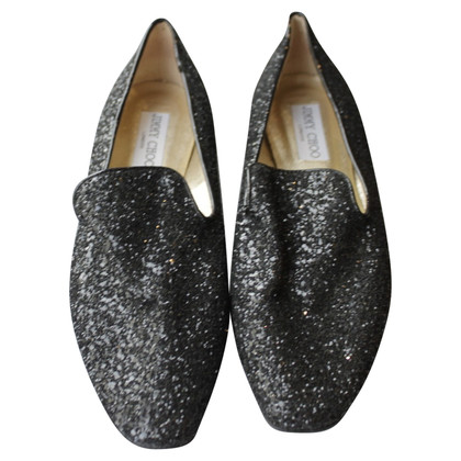Jimmy Choo Slipper con glitter assetto