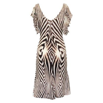 Roberto Cavalli gestreepte jurk
